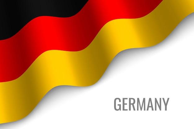 Winkende flagge von deutschland