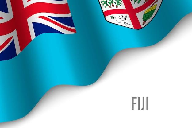 Winkende flagge von fidschi