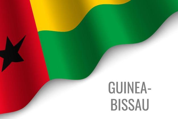 Winkende flagge von guinea-bissau
