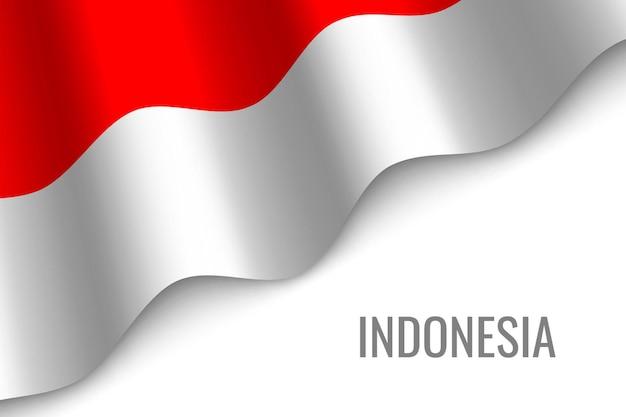 Winkende flagge von indonesien.