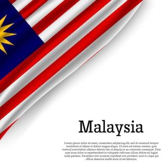 Winkende flagge von malaysia auf weiß
