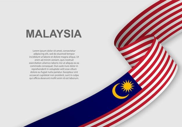 Winkende flagge von malaysia.