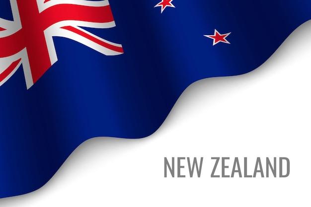 Winkende flagge von neuseeland