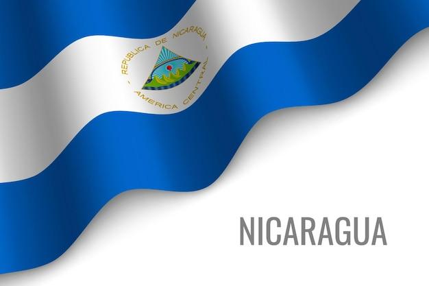 Winkende flagge von nicaragua.