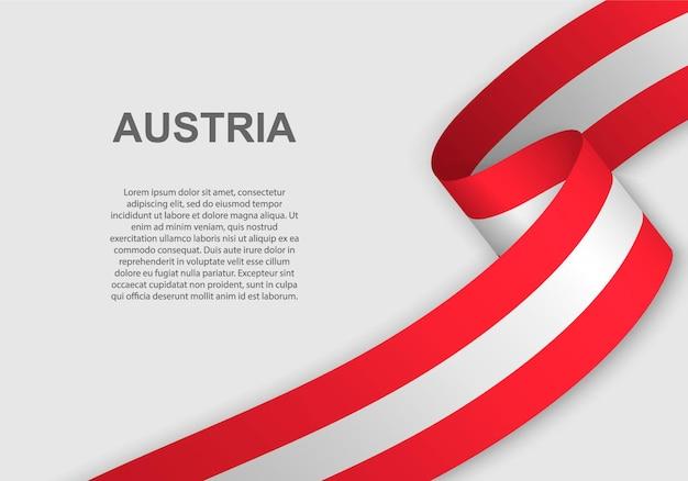 Winkende flagge von österreich.