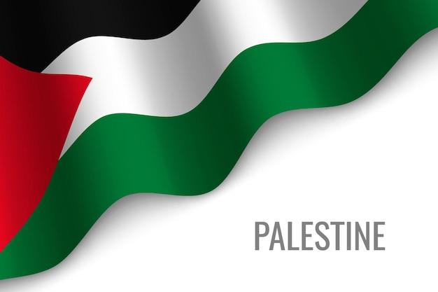 Winkende flagge von palästina