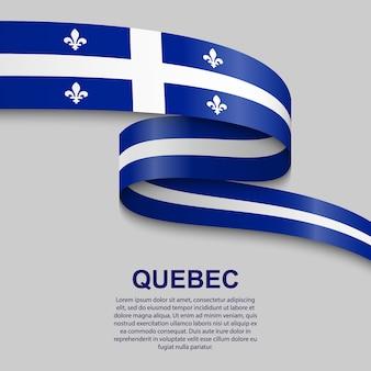 Winkende flagge von quebec