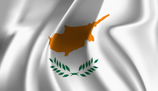 Winkende flagge zyperns. windende zypernflagge