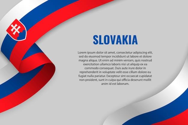 Winkendes band oder banner mit flagge der slowakei