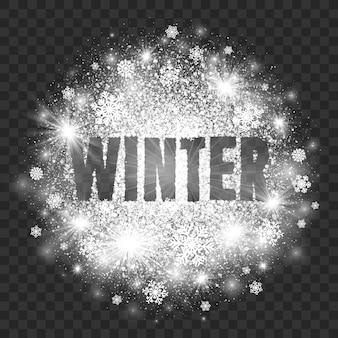 Winter abstrakte darstellung