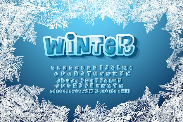 Winter-alphabet