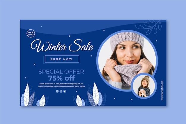 Winter banner vorlage