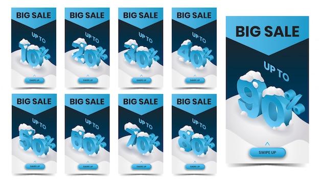 Winter big sale promo banner