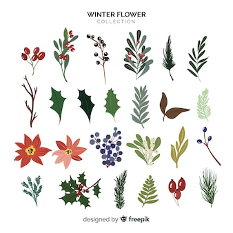 Winter-blumen-kollektion