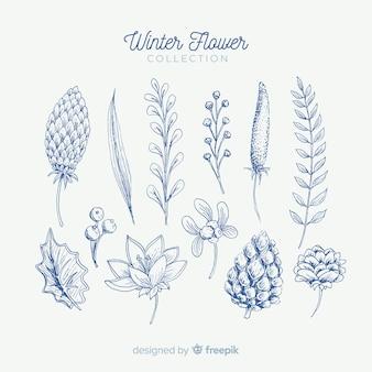 Winter-blumen-kollektion