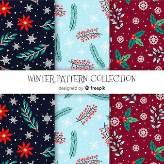 Winter blumenmuster kollektion