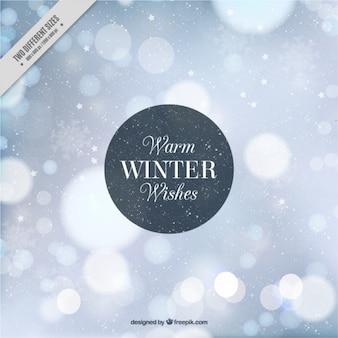 Winter-bokeh abstrakten hintergrund