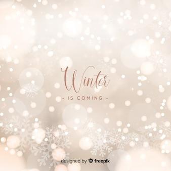 Winter bokeh beleuchtet hintergrund