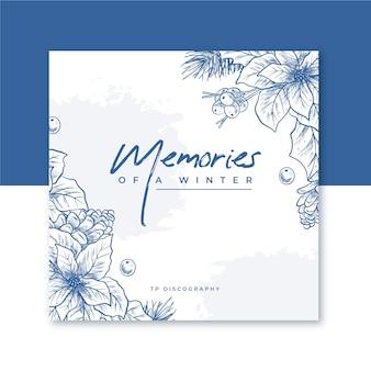 Winter cd cover mit blumen