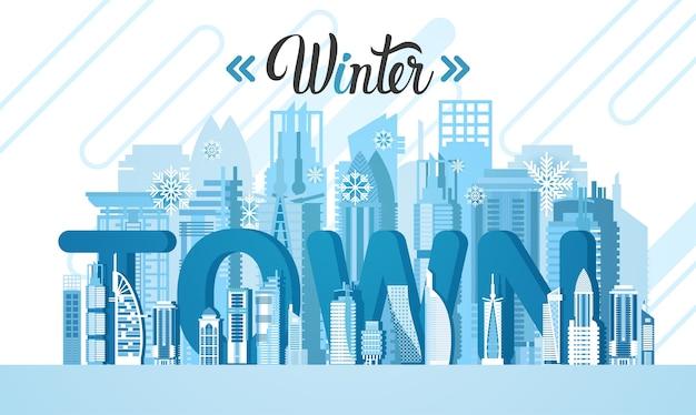 Winter dubai city wolkenkratzer