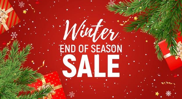 Winter end of season sale vorlage