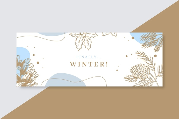 Winter facebook cover vorlage