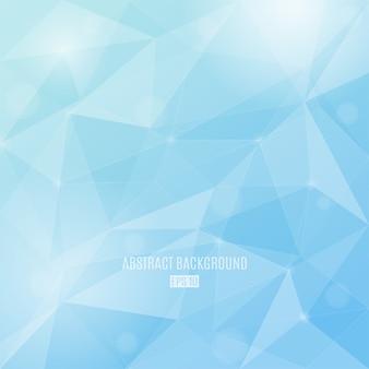 Winter färbt abstrakten hintergrund mit transparenten dreiecken. hintergrund des modernen designs.