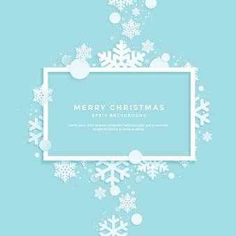 Winter, formen der weißen weihnacht auf einem blau
