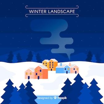 Winter geometrische landschaft