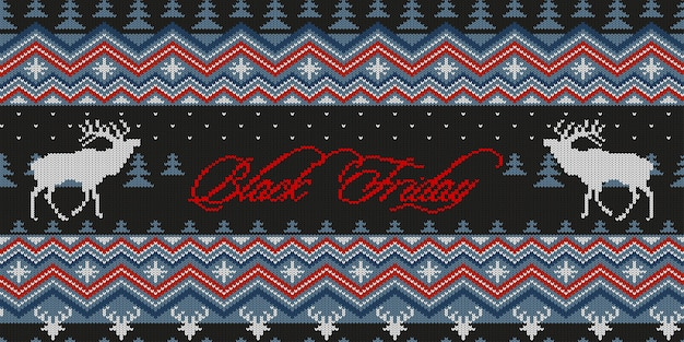 Winter gestricktes woolen nahtloses muster