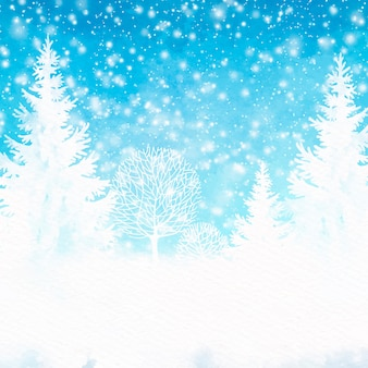 Winter hintergrund aquarell