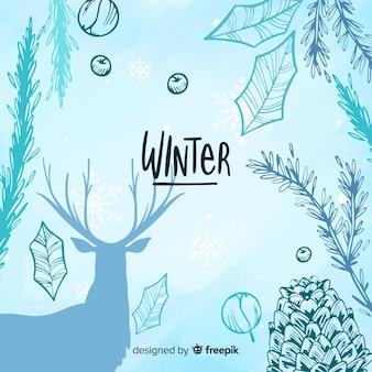 Winter hintergrund