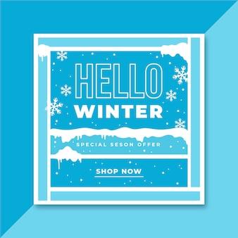 Winter instagram post vorlage