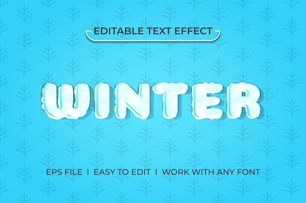 Winter kühlen texteffekt