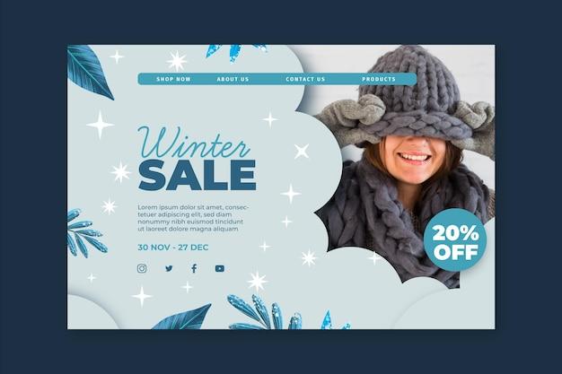 Winter landing page konzept