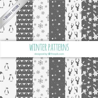 Winter-muster sammlung