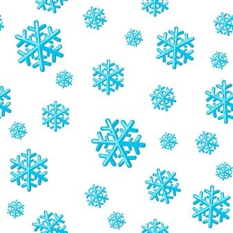 Winter nahtloses muster mit schneeflocken muster für verpackungspapier druckt scrapbooking