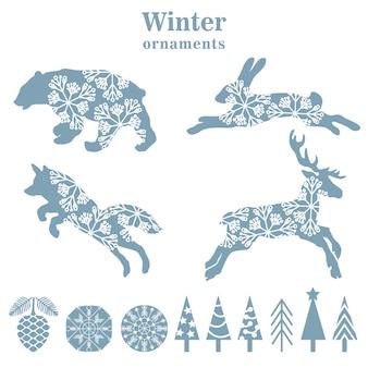 Winter ornamente