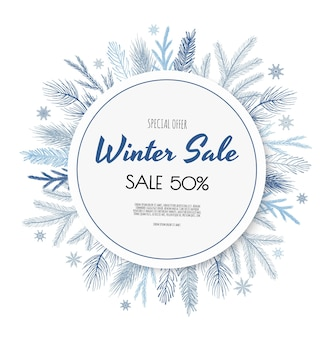 Winter sale banner design.