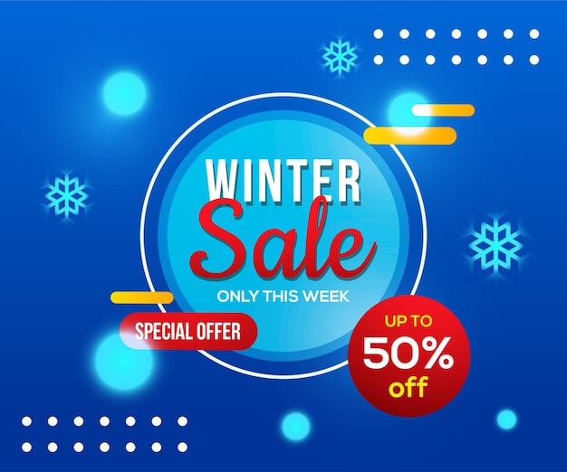 Winter sale banner vorlage
