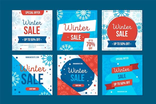 Winter sale instagram beiträge sammlung vc