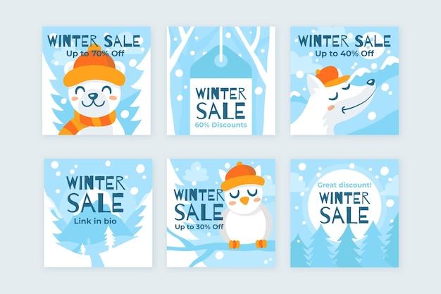 Winter sale instagram beiträge