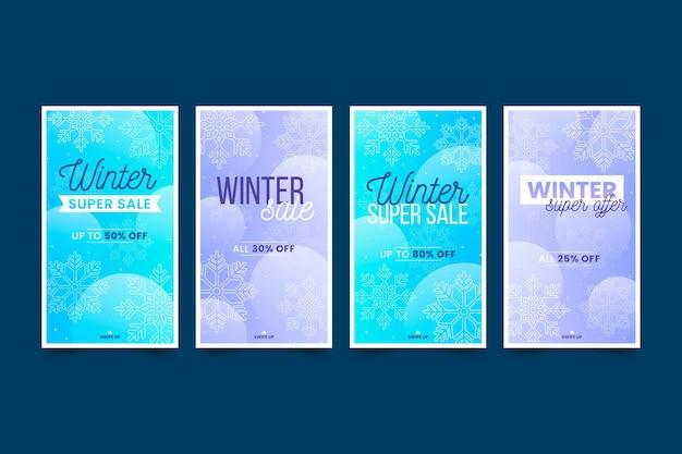 Winter sale instagram geschichten packen