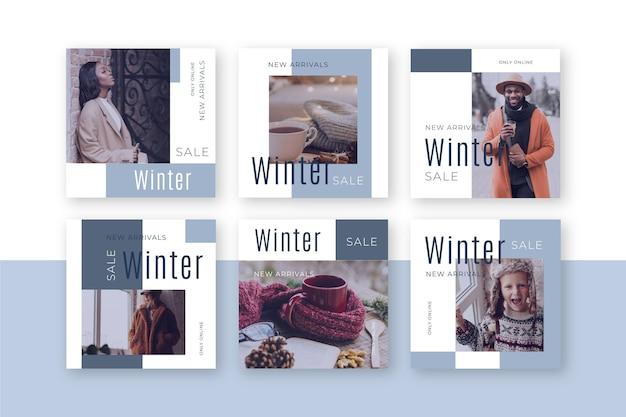 Winter sale instagram post sammlung