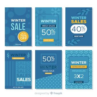 Winter sale karten gesetzt