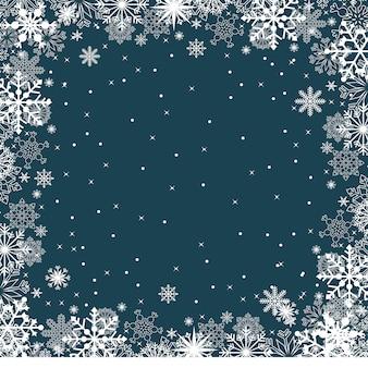 Winter-schnee-schneeflocke-illustrations-beschaffenheits-karten-hintergrund