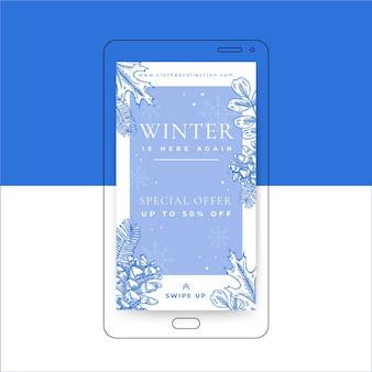 Winter social media geschichten