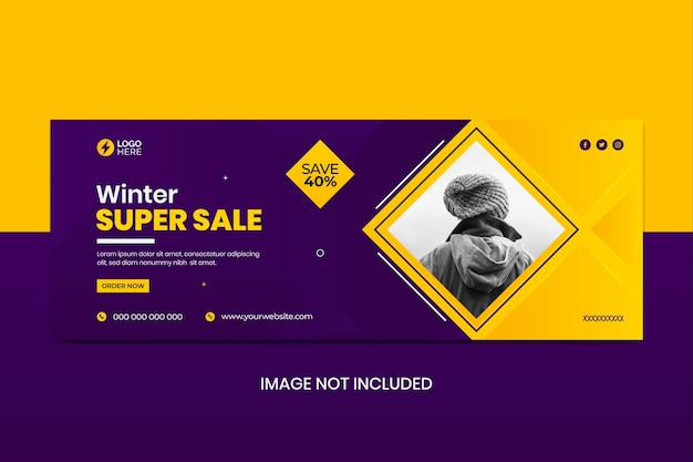 Winter super sale social media cover