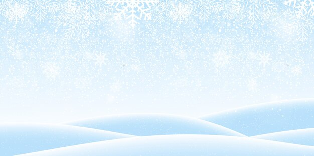 Winter thematische landschaftsillustration