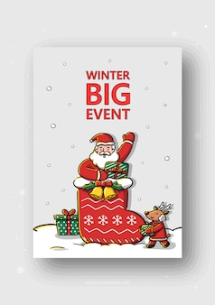 Winter- und weihnachtsereignisillustration
